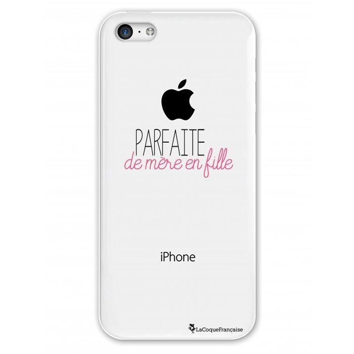 coque rigide transparent parfaite de mere en fille iphone 5c