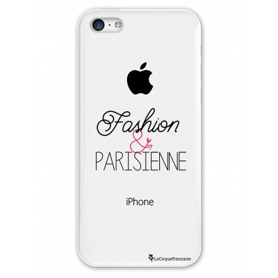 Coque rigide transparent Fashion et Parisienne iPhone 5C