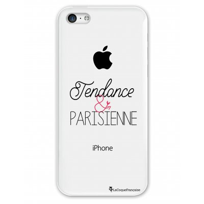 Coque rigide transparent Tendance et Parisienne iPhone 5C