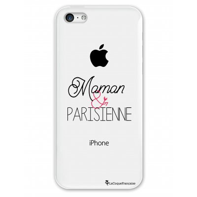Coque rigide transparent Maman et Parisienne iPhone 5C