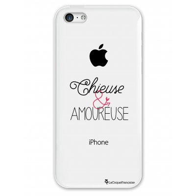 Coque rigide transparent Chieuse et Amoureuse iPhone 5C