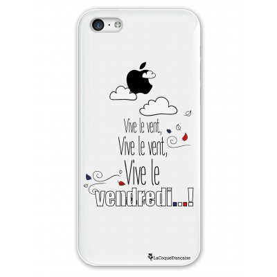 Coque rigide transparent Vive le vendredi iPhone 5C