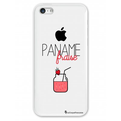 Coque rigide transparent Paname Fraise iPhone 5C