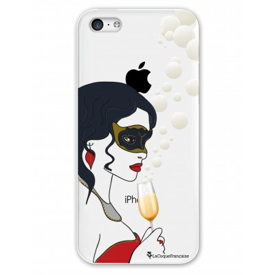 Coque rigide transparent Noel en bulles iPhone 5C