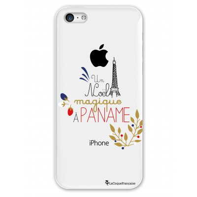 Coque rigide transparent Un Noël magique à Paname iPhone 5C