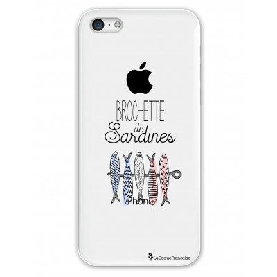 Coque rigide transparent Brochette de sardines iPhone 5C