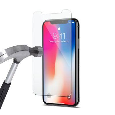Vitre protectrice avant en verre trempé pour iPhone X
