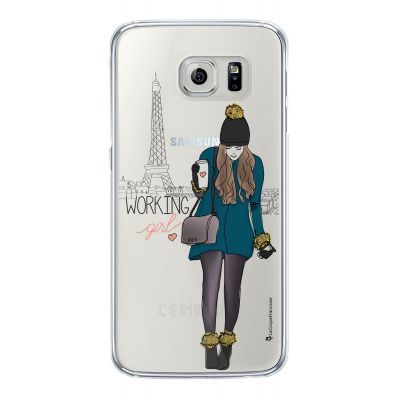 Coque Souple transparent Working girl Samsung Galaxy S6