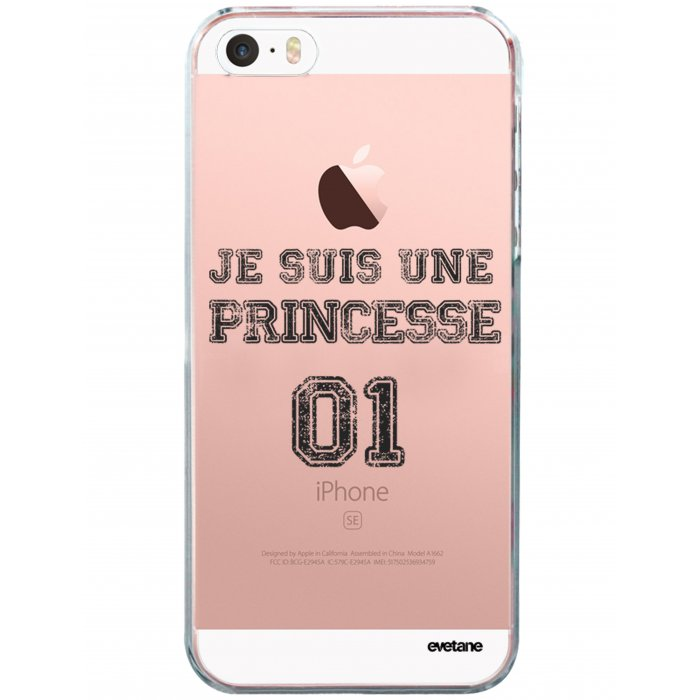 coque souple transparent princesse 01 iphone 5 5s se