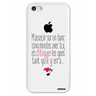Coque rigide transparent M'asseoir sur un banc iPhone 5C