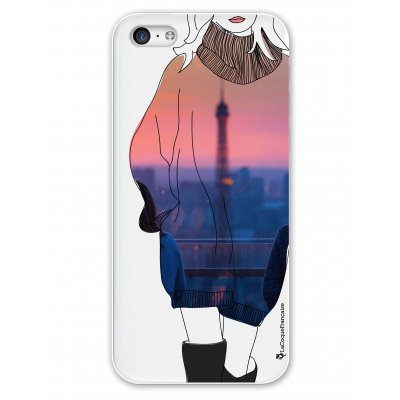 Coque rigide transparent A la mode de Paris iPhone 5C