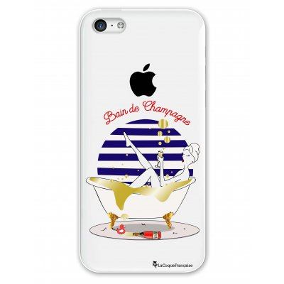 Coque rigide transparent Bain de champagne iPhone 5C