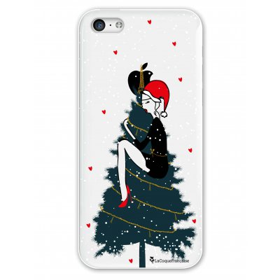 Coque rigide transparent Mon beau sapin iPhone 5C