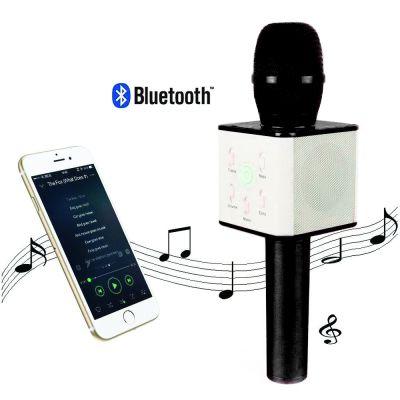 Karaoke Bluetooth Microphone Black Pour Smartphone