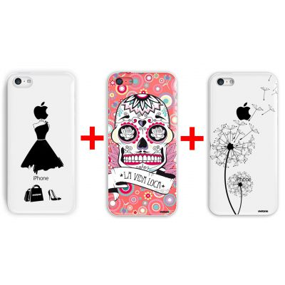 Lot de 3 coque fashion pour iPhone 5C