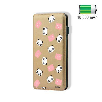 Batterie externe POWER BANK 10 000mAh Têtes De Panda compatible Lightning & Micro USB - Or