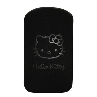 Etui pouch Hello Kitty Pastel noir Large