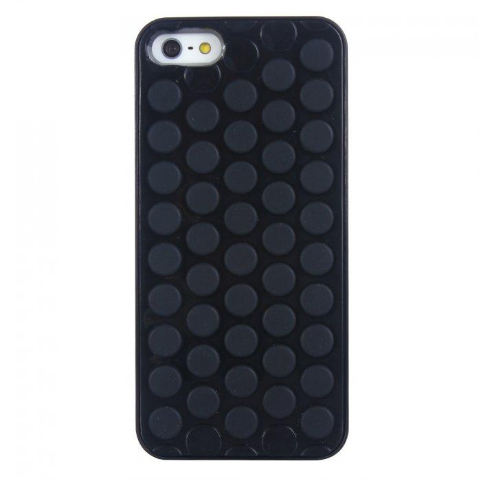 Coque rigide bulle pop noire pour iPhone 5 / 5S