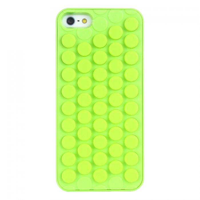 Coque rigide bulle pop verte fluo pour iPhone 5 / 5S