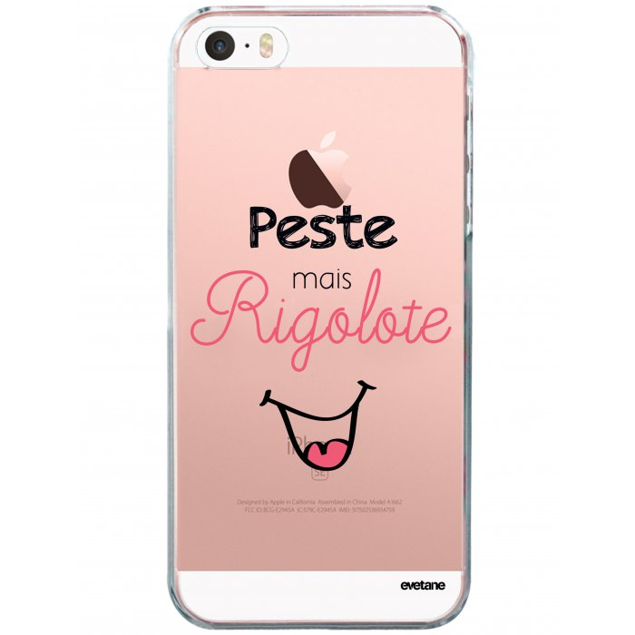 coque souple transparent peste mais rigolote iphone 5 5s se