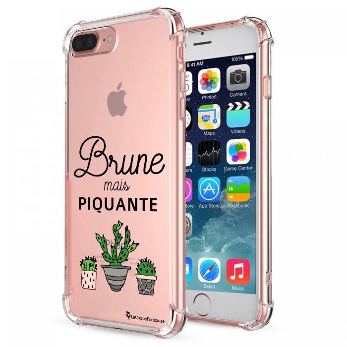 coque souple avec angles renforces transparent brune mais piquante iphone 7 plus 8 plus