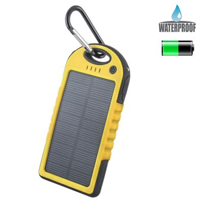 Power Bank solaire 5000 mAh - Jaune