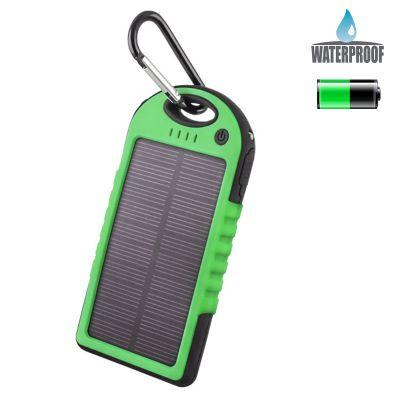 Power Bank solaire 5000 mAh - Vert