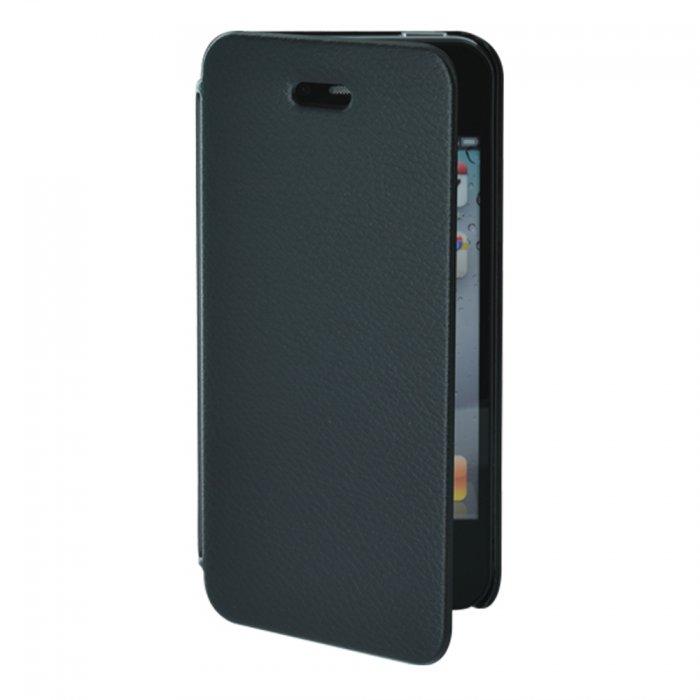 etui coque made in france noir avec rabat pour iphone 4 4s