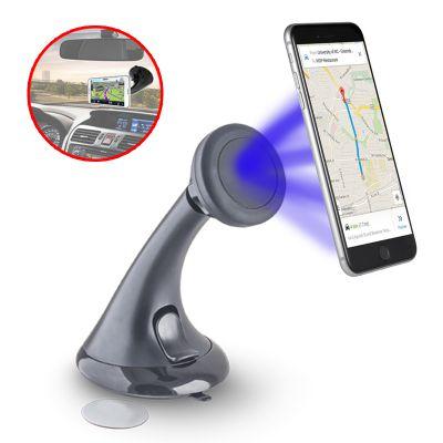 Support Voiture ventouse pour Smartphone Fixation Pare-brise / Tableau de Bord avec fixation magnétique