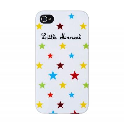 Little Marcel coque iPhone 4 / 4S Etoiles Effet laqué
