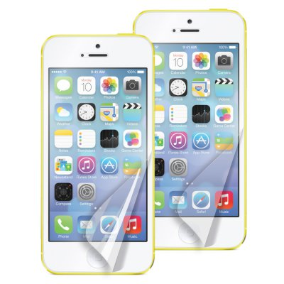 Muvit lot de 2 films anti traces doigt 1 glossy 1 mat pour iPhone 5C