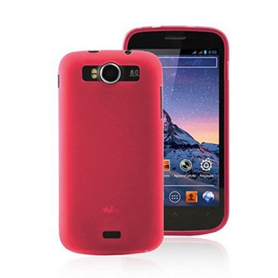 Coque gel frost rose pour wiko cink Peax