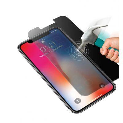 Vitre protectrice avant en verre trempé anti vision latérale pour iPhone X