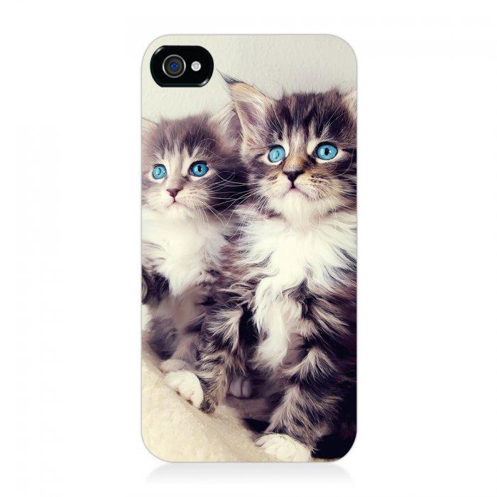 coque rigide chats russians blue pour iphone 4 4s
