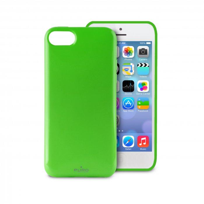 puro coque anti choc cover verte pour iphone 5c