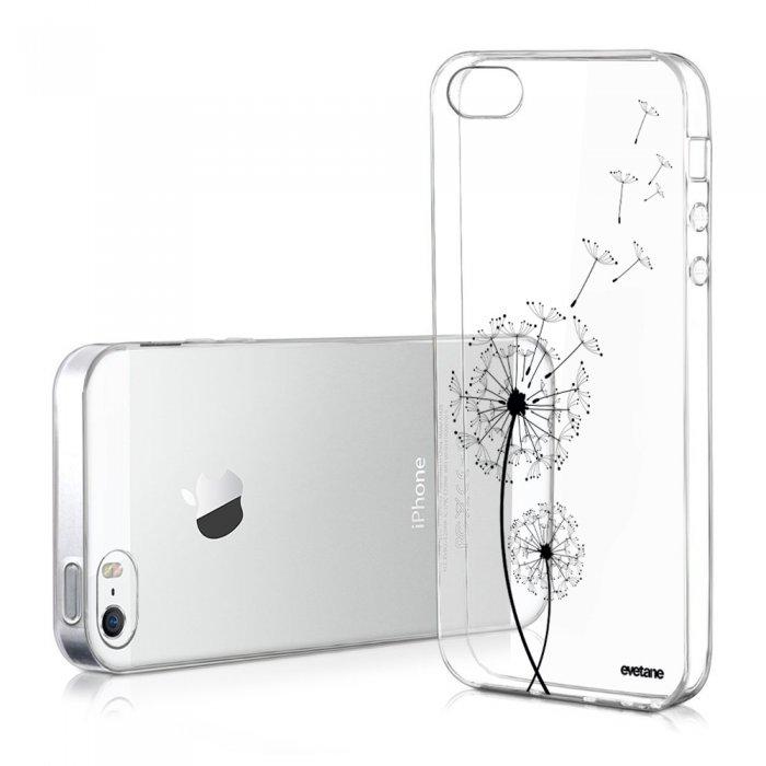 Coque iPhone 5/5S/SE souple transparente Pissenlit Motif Ecriture ...