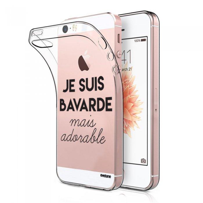 coque souple transparent bavarde mais adorable iphone 5 5s se