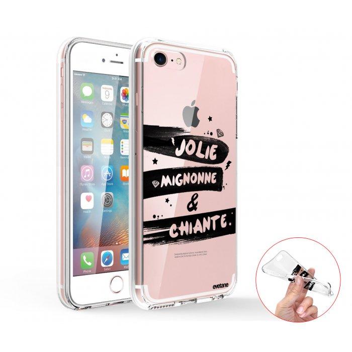 coque integrale 360 souple transparent jolie mignonne et chiante iphone 7 iphone 8