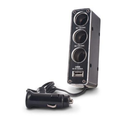 Chargeur voiture 3 en 1 + Prise USB