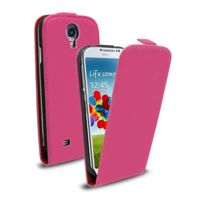 Etui clapet similicuir rose pour Samsung Galaxy S4 I9500