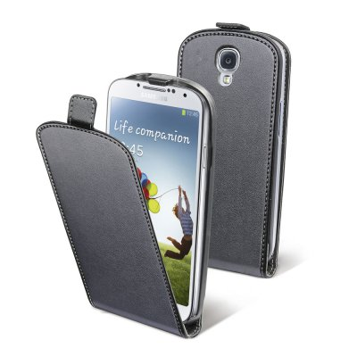 Etui clapet similicuir noir pour Samsung Galaxy S4 I9500