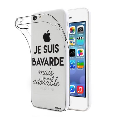 Coque souple transparent Bavarde Mais Adorable iPhone 5C