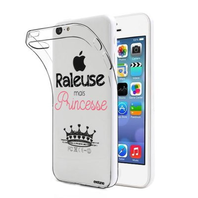 Coque souple transparent Raleuse mais princesse iPhone 5C