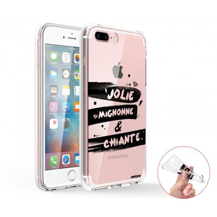 coque integrale 360 souple transparent jolie mignonne et chiante iphone 7 plus 8 plus