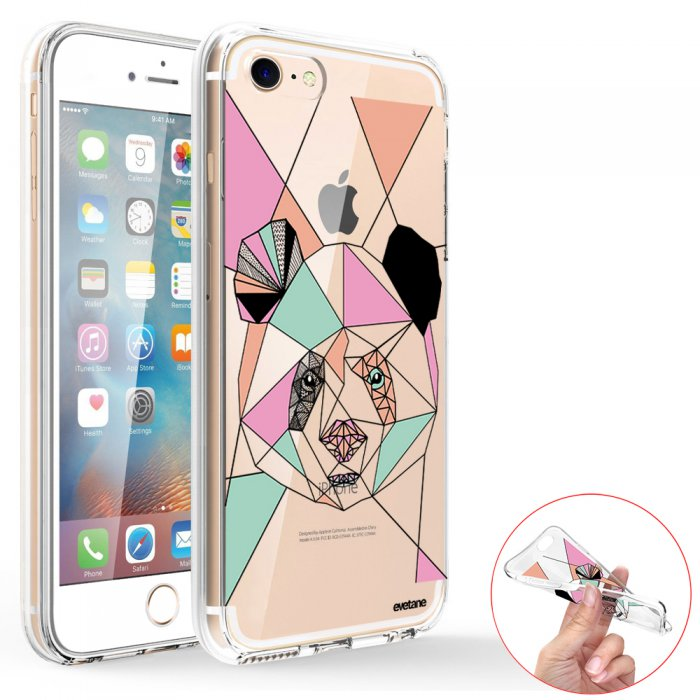 coque iphone 7 transparent panda