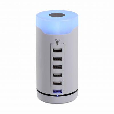 Station de charge USB Permet de charger 6 appareils simultanément