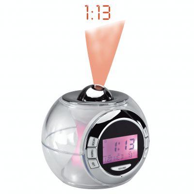 Horloge à couleurs changeantes avec 6 sons de la nature, projection de l'heure au plafond, alarme, calendrier, thermomètre