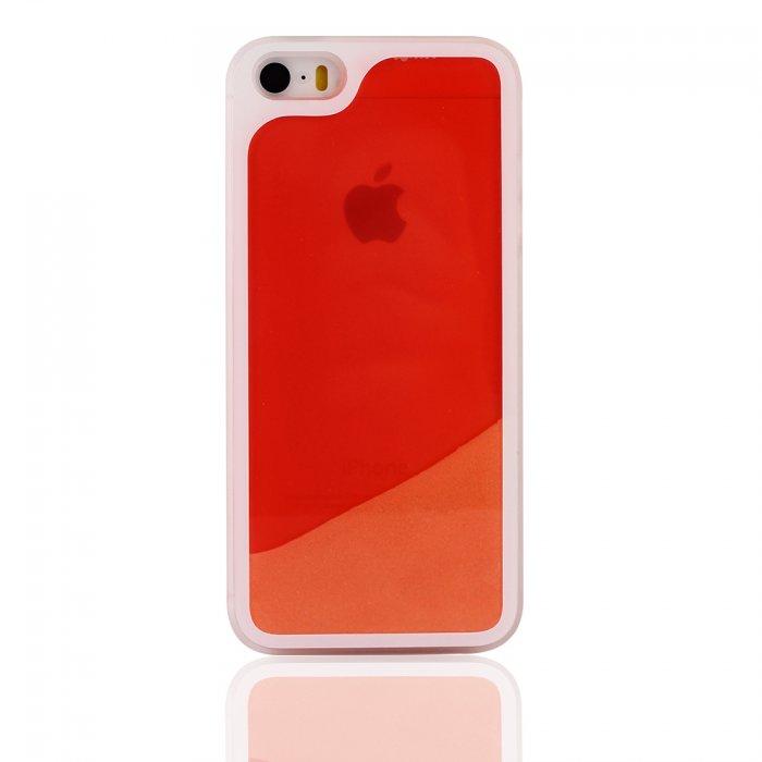Coque magic liquid phosphorescente Rouge pour iPhone 5 / 5S