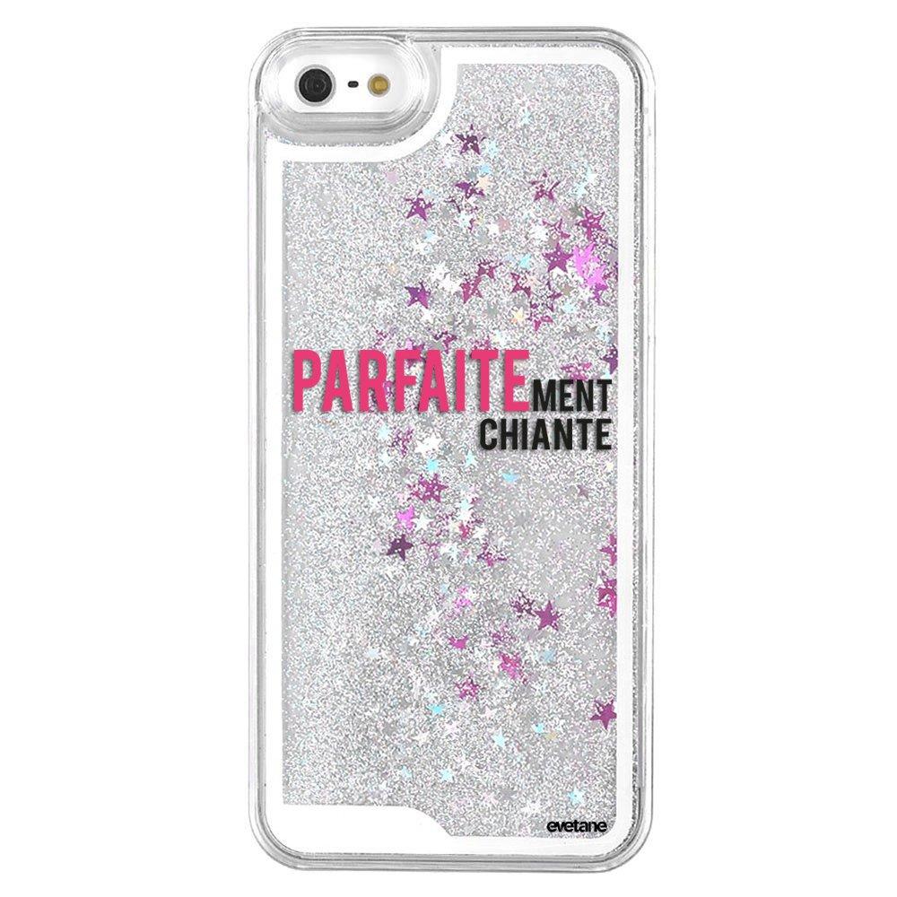 Coque paillettes iPhone 5/5S/SE paillettes liquides argent ...