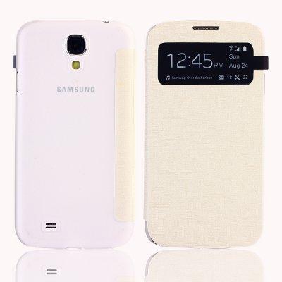 Etui livre blanc avec ouverture sur rabat avant pour Samsung Galaxy S4 I9500